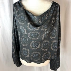 Free People Size M Long Sleeve Blouse